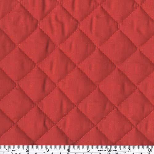 Double-Sided Quilted Broadcloth Red Fabric By The Yard