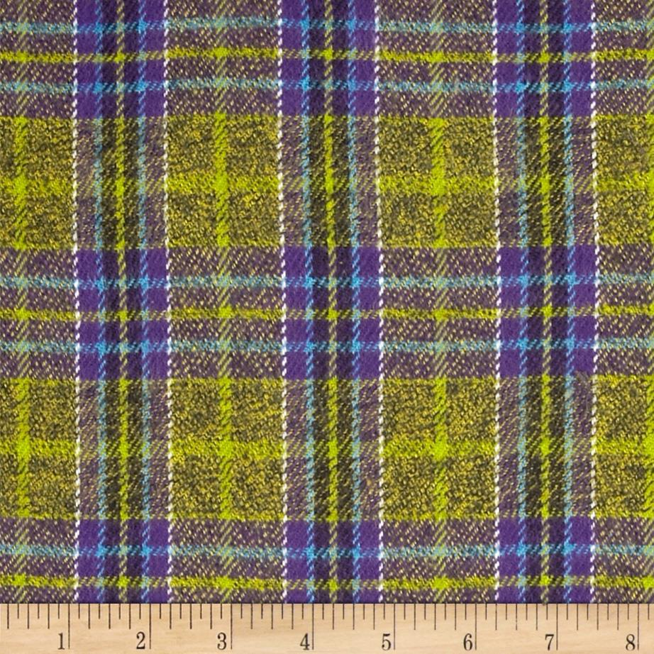 6 oz. Flannel Plaid Lime/Purple