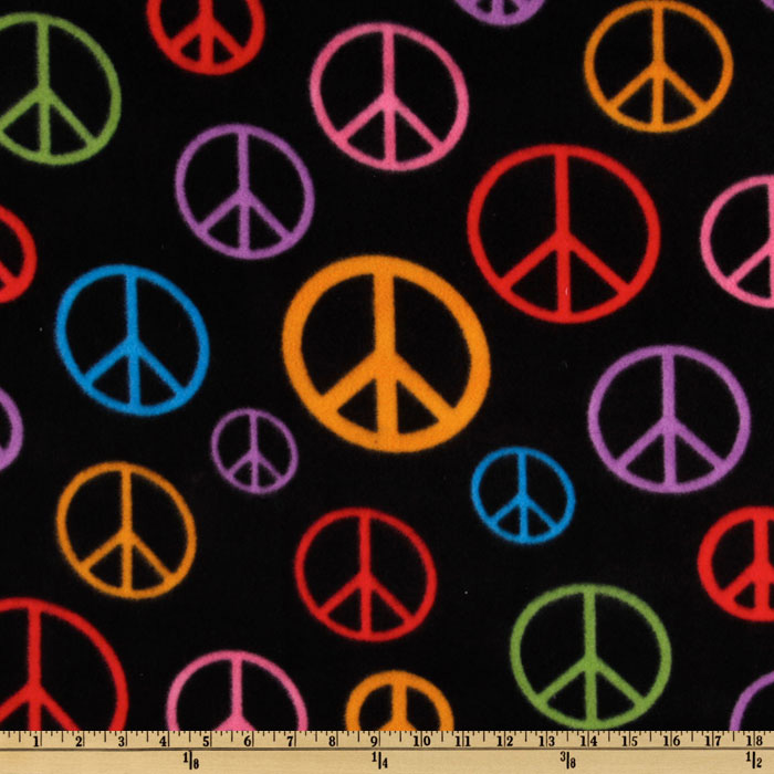WinterFleece Peace Black/Multi Fabric