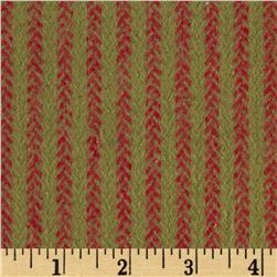 Primo Plaids Christmas Flannel Vine Stripe Red/Green