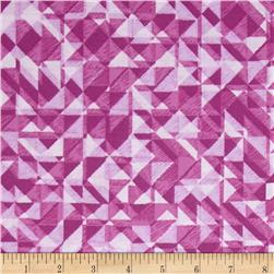 108 In. Quilt Wide Back Prisms Purple Fabric