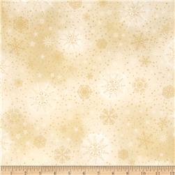 Robert Kaufman Radiant Holiday Metallic Snowflakes Linen