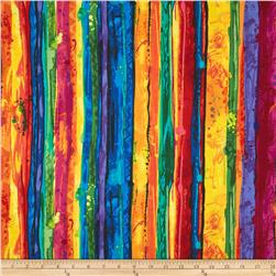 Timeless Treasures Fantasia Painted Stripe Multi
