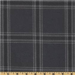Designer Yarn Dyed Large Plaid Suiting Navy/White