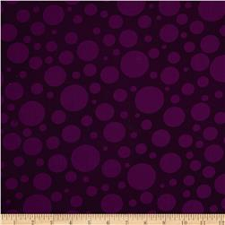 "110"" Wide Quilt Back Bubbles Purple"