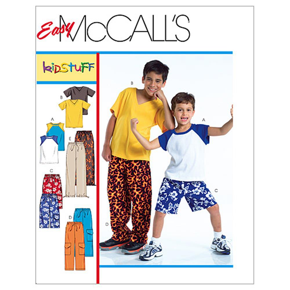 McCall's Children's/Boys' T-Shirts, Shorts In 2 Lengths and Pants Pattern M4364 Size 0Y0