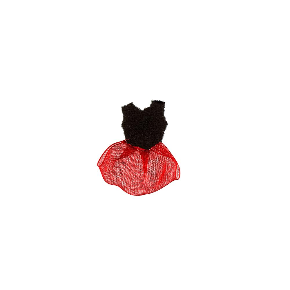 Costume Applique Black/Red