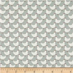 Lewis & Irene Country Life Little Hens Duck Egg Blue