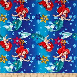 Disney Little Mermaid Ariel Ombre Toss Blue