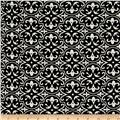 Polyester Crepe Mosaic Black/White