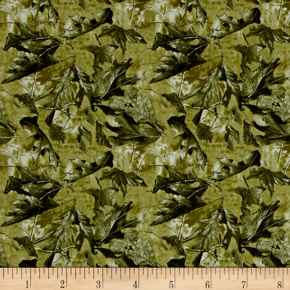 INOpets.com Anything for Pets Parents & Their Pets RealTree Leaves Green Fabric