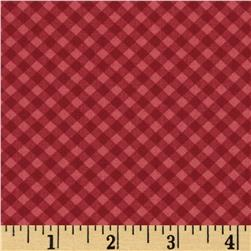 Moda Wishes Tablecloth Apple Red