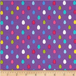 Michael Miller Easter in Gnomeville Egg Dot Purple