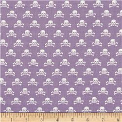Riley Blake Happy Haunting Skull Purple