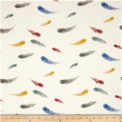Birch Organic Charley Harper Nurture Knit Feathers Cream 42'' Wide