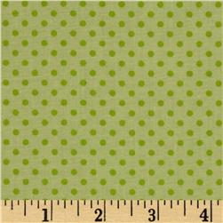 Baby Talk Dots Green Fabric