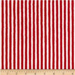 Minky Cuddle Classic Mini Stripe Scarlet/Snow