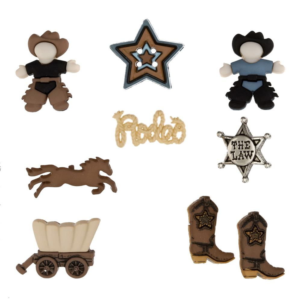 Dress It Up Embellisment Buttons  Howdy Partner