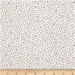 Imperial Paisley Dots White/Gold