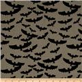 Riley Blake Lost & Found Halloween Bats Gray