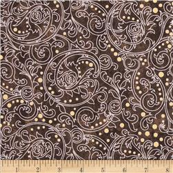 Lonni Rossi's Medium Scrolls Brown/Gold