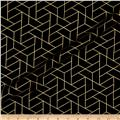 Mixology Luxe Tiled Black & Gold Metallic