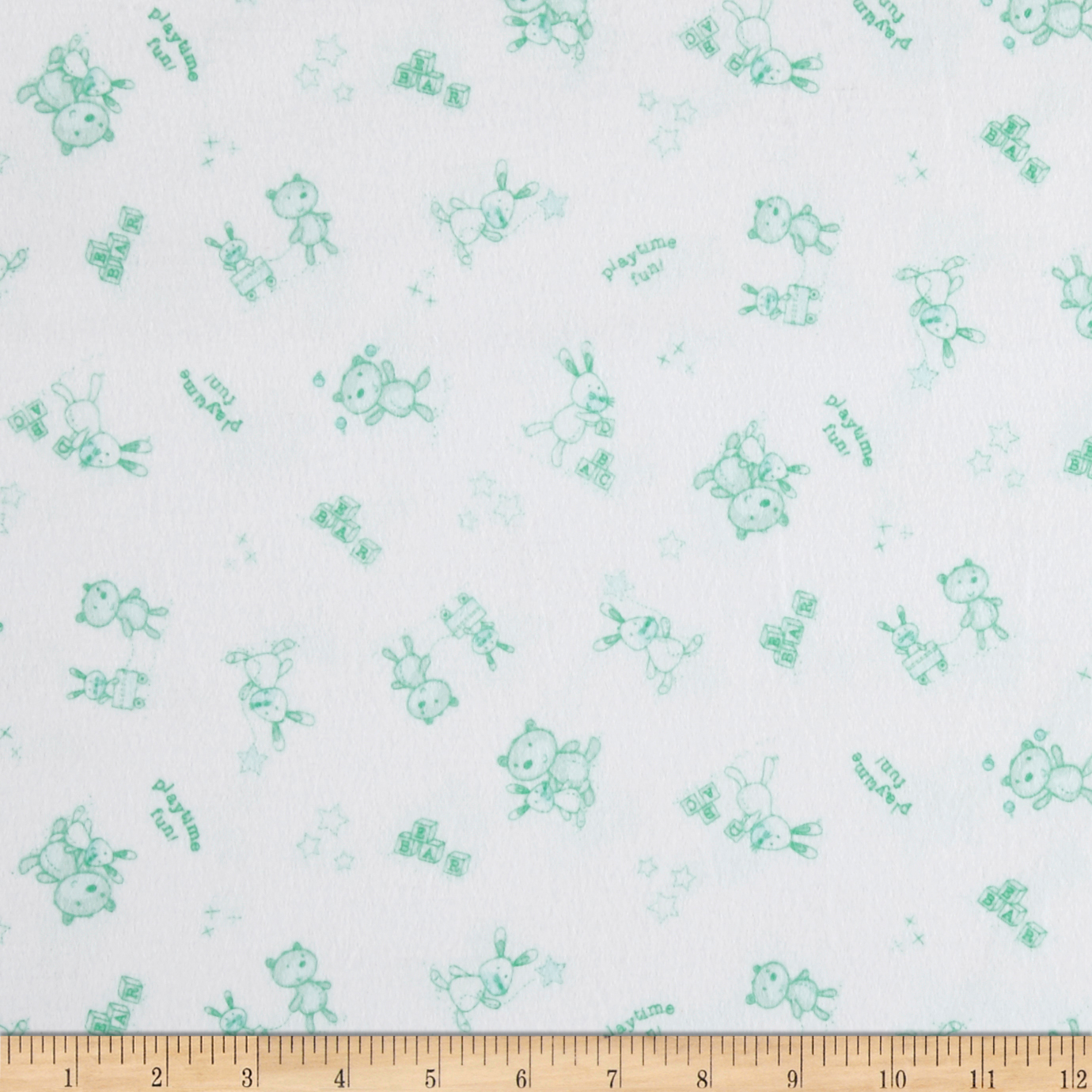 Beaux Be Be Playtime Mint Fabric by P & B in USA