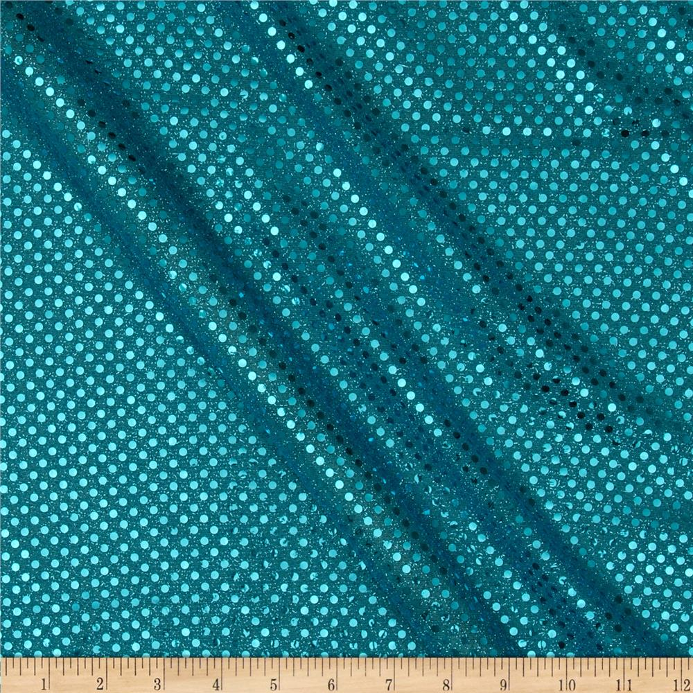 Sequin dot mesh turquoise discount designer fabric for Sparkly material