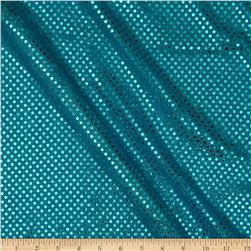 Sequin Dot Mesh Turquoise