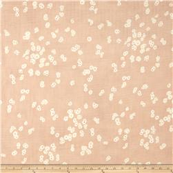Kokka Muddy Works Double Gauze Flower Toss Peach