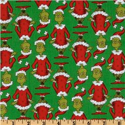 Kaufman How The Grinch Stole Christmas Santa Grinch Green