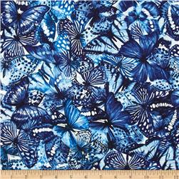 Butterfly Forest Collage Blue