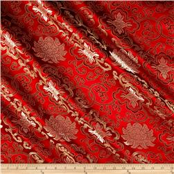 Chinese Brocade Rust/Beige Quarterfoil