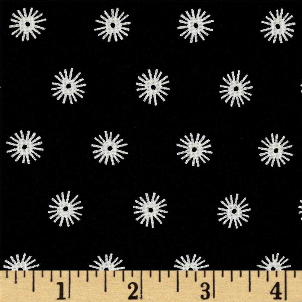 Cotton + Steel Black and White Sea Urchin Black