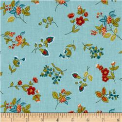 Tossed Floral Light Blue