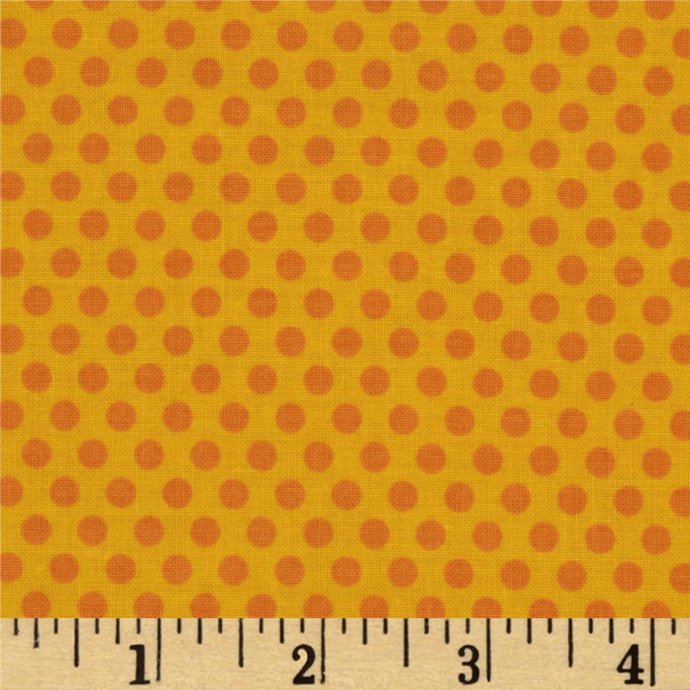 Riley Blake Zoofari Organic Dots Yellow