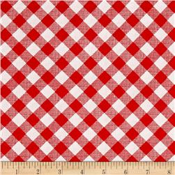Riley Blake Sew Cherry 2 Gingham Red