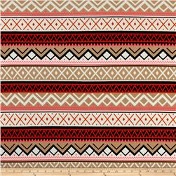Triangle Stripe Stretch ITY Knit Multi