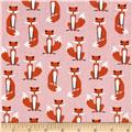 Kaufman Fabulous Foxes Small Foxes Pink