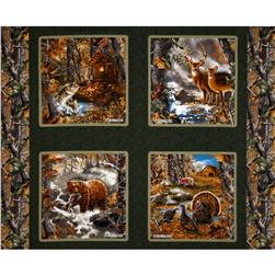 Realtree Nature Pillow Panel Green Fabric