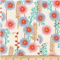 Cotton + Steel Santa Fe Hollyhocks Natural