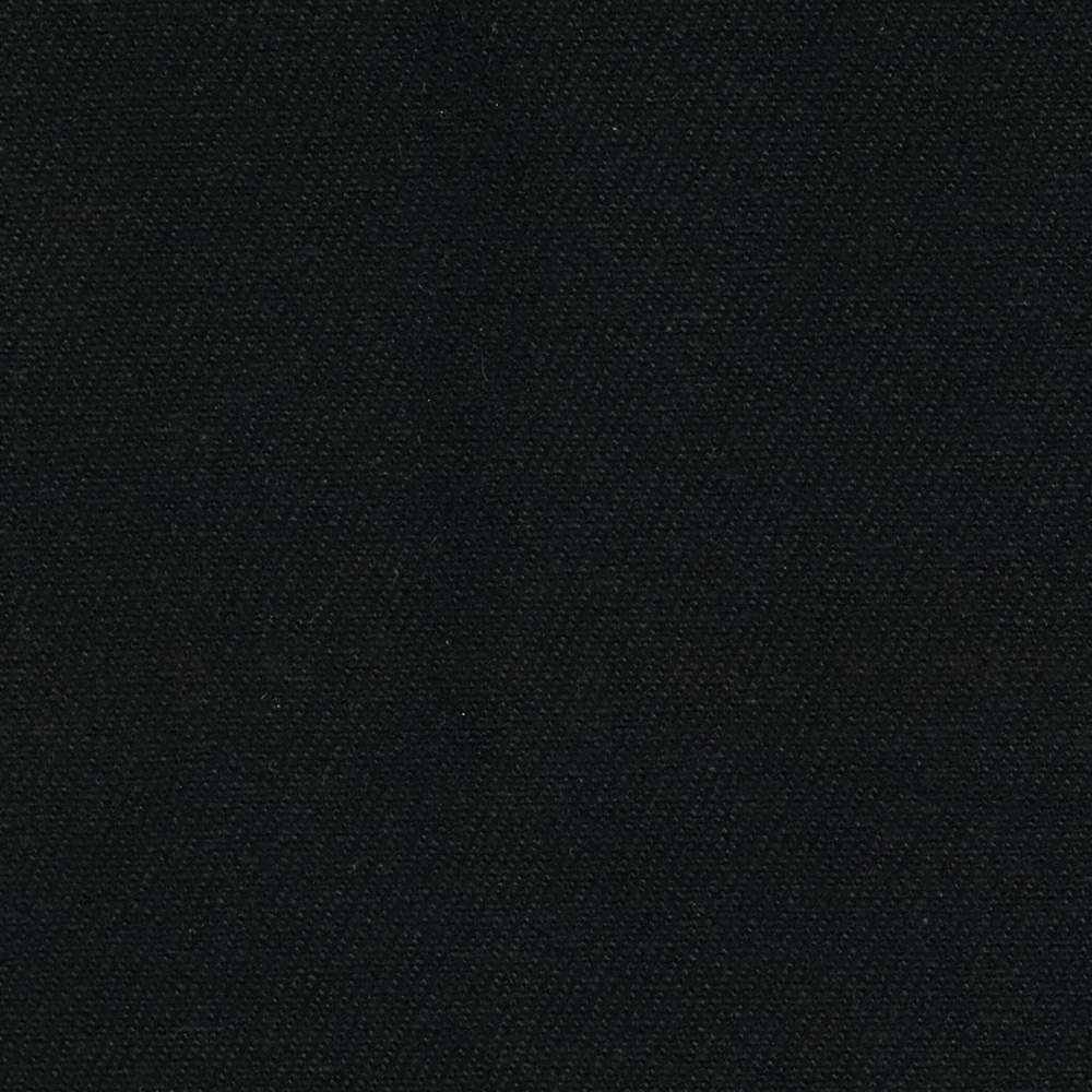 12 oz Brushed Bull Denim Black Fabric by Carr in USA