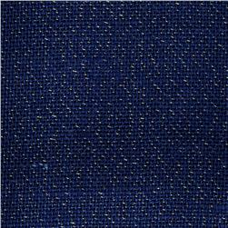 Metallic Burlap Navy