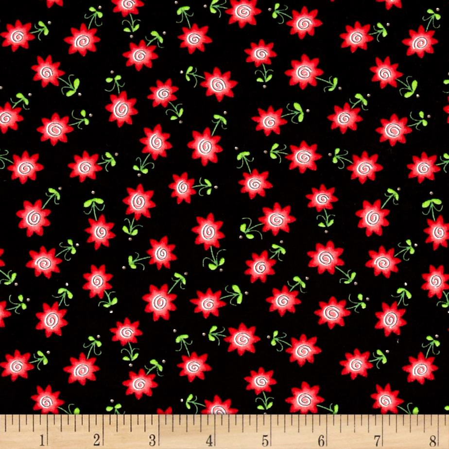 Tinsel Toes Mini Flower Black