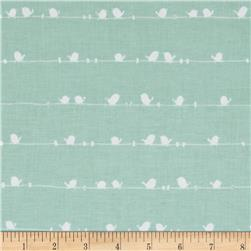 Riley Blake Enchant Birds Aqua
