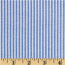 Yarn-Dyed Seerscker Stripe Blue