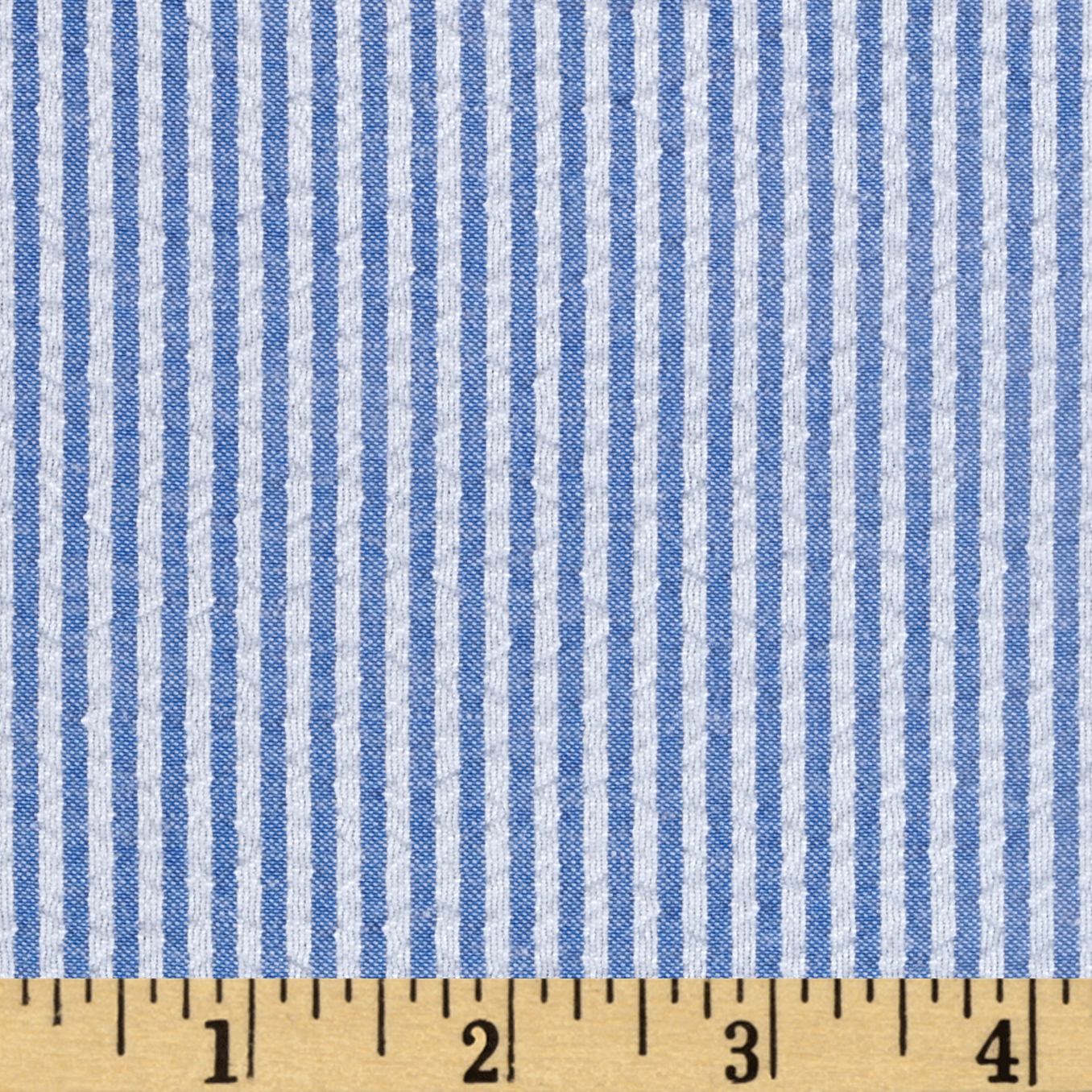 Yarn-Dyed Seerscker Stripe Blue Fabric