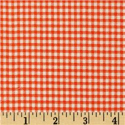 Basic Training Small Gingham Orange/White
