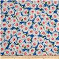 Crepe De Chine Daisy Royal
