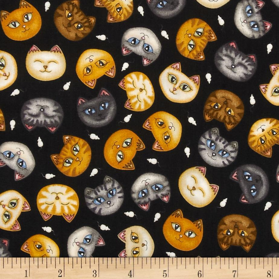 Wildcats Cat Heads Black